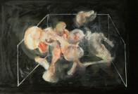 Geometrie nach Bacon, 60 x 90 cm, Mischtechnik auf Papier, 2008