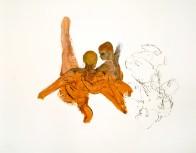 Neigung, 90 x 110 cm, Öl auf Papier, 2011