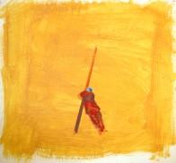 Stehen nach Mazzoni, 45 x 48 cm, Öl auf Hartfaserplatte, 2008