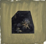 Straßenszene: Kündigung, 45 x 45 cm, Mischtechnik auf Holz, 2008