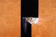 Strafraum, 32 x 48 cm, Öl auf Holz, 2009