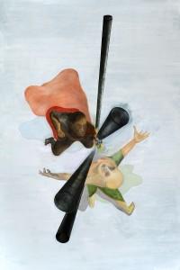 Die Kunde, 210 x 140 cm, Öl auf Leinwand, 2012