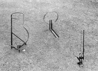 Musikmaschine 1,2,3, zerstört, ca. 230 x 110 x 130 cm, Stahl, 1993 - 1994