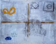 Bild Nr. 1, 130 x 195 cm, Mischtechnik auf Leinwand, 1993