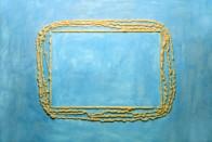 Assil, 150 x 240 cm, Bauschaum und Acryl auf Leinwand, 1994