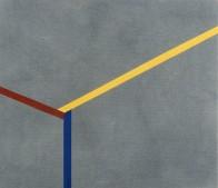 höhe tiefe breite III, 50 x 60 cm, Acryl auf Leinwand, 1999