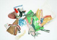 Familie II, Öl auf Papier, 30 x 40 cm, 2016