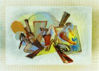 Choreo IIII, 40 x 30 cm, mixed media on paper, 2017