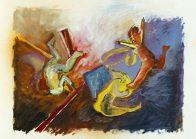 Choreo I, 40 x 30 cm, mixed media on paper, 2017