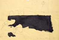 Flucht, Din A4, Grafit und Teer auf Papier, 1993, Privatbesitz