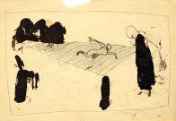 """""""...da ja unmöglich..."""", Din A4, Grafit und Teer auf Papier, 1993, Privatbesitz"""