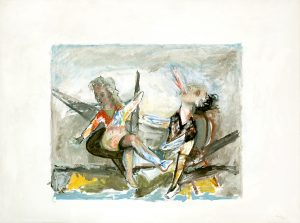 Streit (Studie), 60 x 90 cm, Öl auf Leinwand, 2017