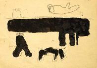 Versuch, Din A4, Grafit und Teer auf Papier, 1993, Privatbesitz