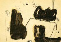 Szene, Din A4, Grafit und Teer auf Papier, 1993, Privatbesitz