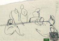 Beratung, Din A 5, Kohle auf Papier, 1993, Privatbesitz