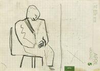 warten, Din A 5, Kohle auf Papier, 1993, Privatbesitz