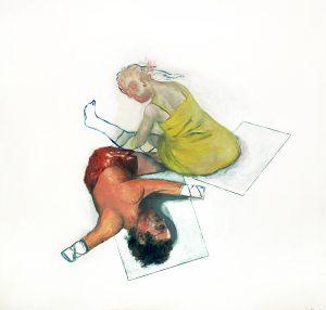 nature morte / Stillleben, 100 x 115 cm, Öl auf Papier (kaschiert auf Holz), 2017
