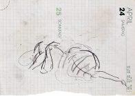 Kaumanns Frau, A5, Kohle auf Papier, 1993, Privatbesitz