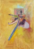 Gelbe Studie, 35 x 25 cm, Öl auf Leinwand, 2020
