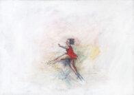 Mädchen mit rotem Kleid, 25 x 35 cm, Öl auf Leinwand, 2020, Privatbesitz