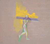 Träger, 38 x 41 cm, Öl auf Holz, 2020