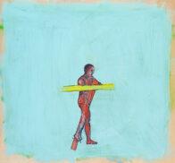Pink, 43 x 47 cm, Öl auf Holz, 2020