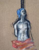 Dschiesses, 40 x 30 cm, Öl auf Leinwand, 2020