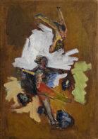 Sturz, 35 x 25 cm, Öl auf Leinwand, 2020
