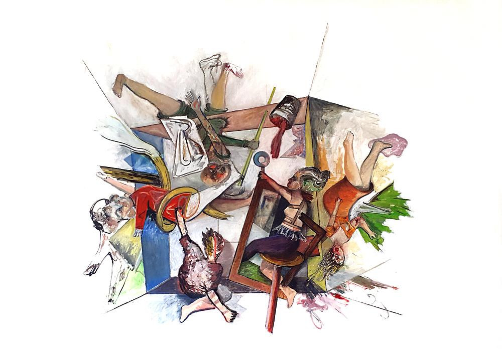 CUBUS, Öl auf Leinwand, 180 x 260 cm, 2020