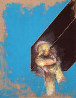 Figur mit Träger, 40 x 30 cm, Öl und Acryl auf Leinwand, 2020, Privatbesitz