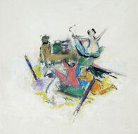 Studie zu Gericault, 35 x 34 cm, Öl auf Holz, 2020