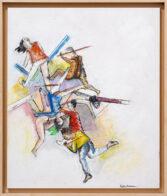 Dornenkrönung, 40 x 34 cm, Öl auf Holz, 2020