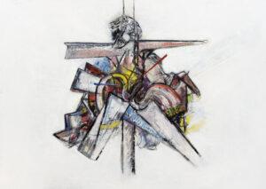 Dschieses, Öl auf Papier (kaschiert auf MDF), 2019