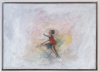 Mädchen mit rotem Kleid, 25 x 35 cm, Öl auf Leinwand, 2020, Privat Collection
