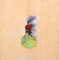 Schrei, 35 x 34 cm, Öl auf Holz, 2020