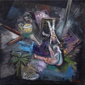 ninive II, 40 x 40 cm, Öl auf Leinwand, 2020