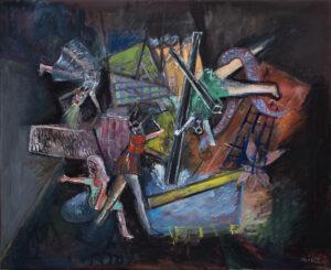 ninive I, 40 x 50 cm, Öl auf Leinwand, 2020