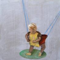 Yassin, 41 x 40 cm, Öl auf Holz, 2003-2020