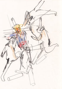 Skizze Dornenkrönung Nr. 7